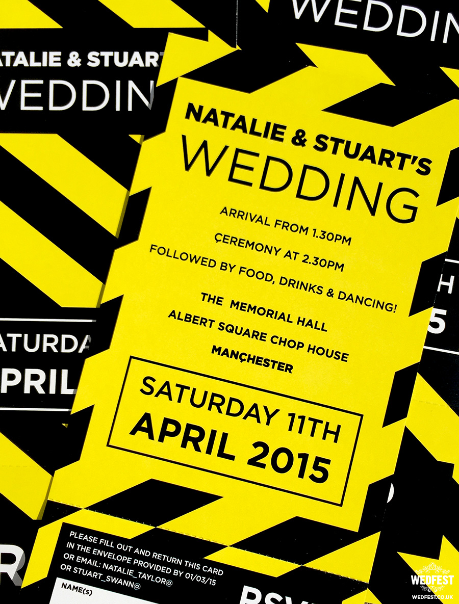 hacienda manchester wedding invitations