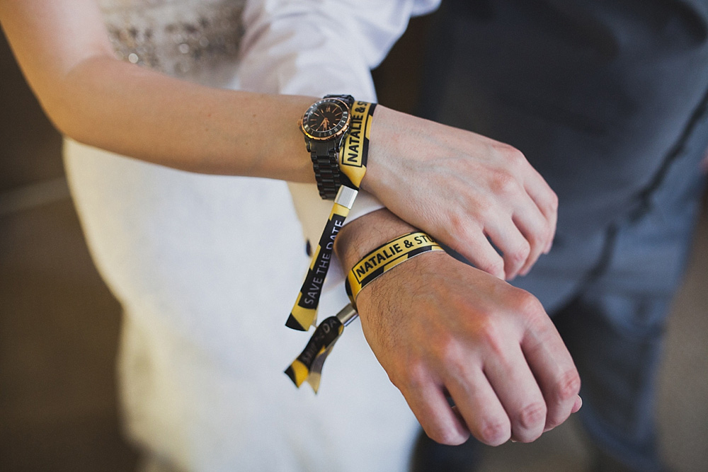 hacienda wedding festival wristbands