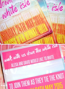 ibiza travel wedding invites