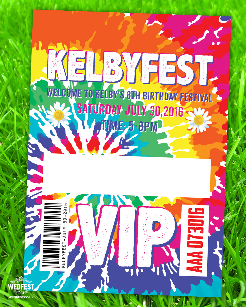 kidchella kids birthday party invites