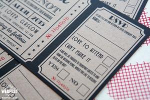 kraft card wedding invitations