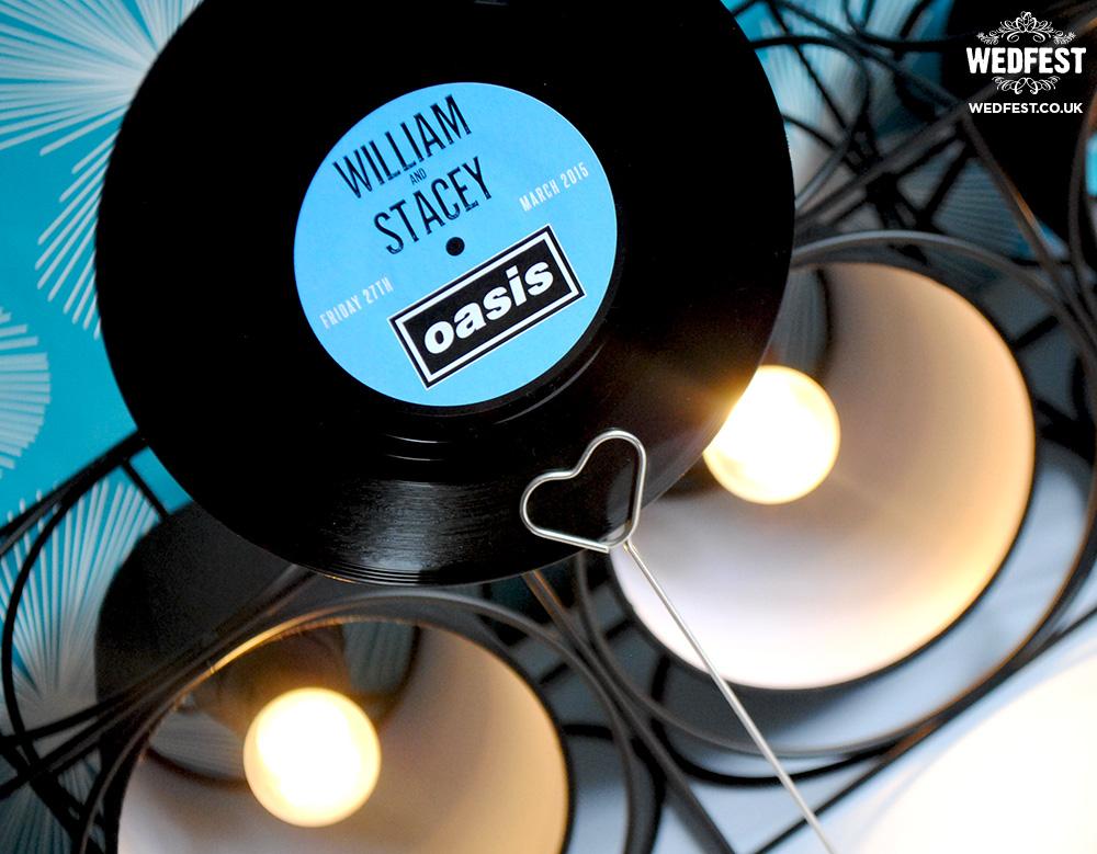 music vinyl record wedding table name