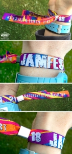 personalised birthday party wristbands