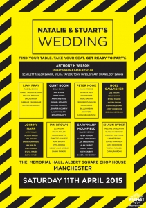 the hacienda fac51 manchester wedding table seating plan