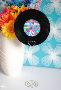 vinyl record wedding table number