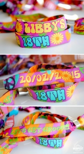 woven party event wristbands