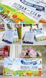 beautiful spring wedding invites
