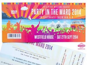 Festival 50th Birthday Party Invites