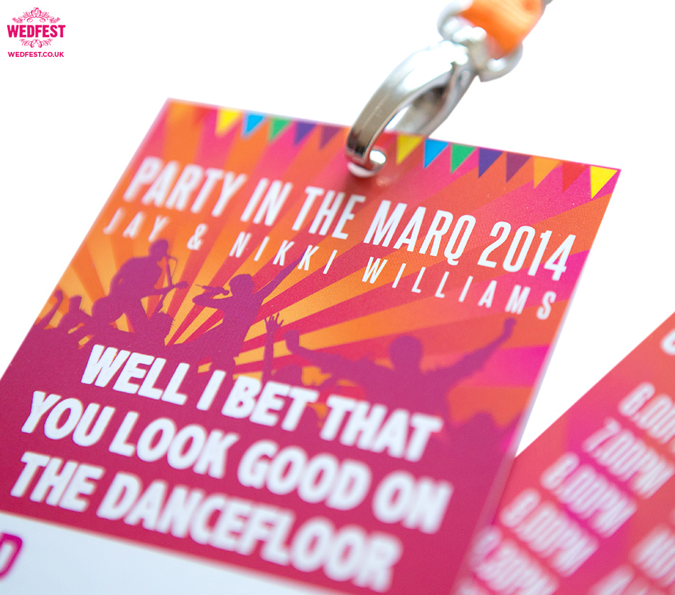 festival party lanyard cards