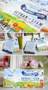 festival themed wedding invitations