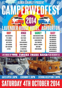 festival wedding table plan vw campervan