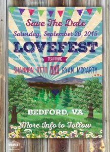 lovefest wedding save the date
