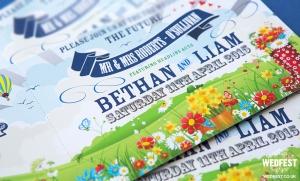 spring boho wedding invitations