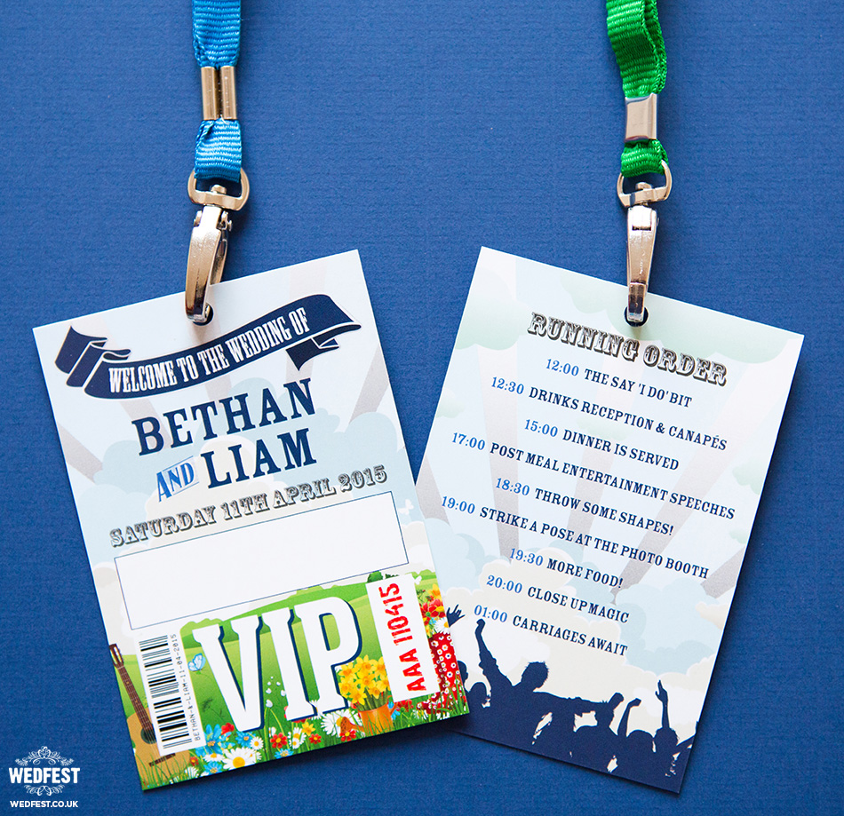 spring wedding vip lanyard wedding program