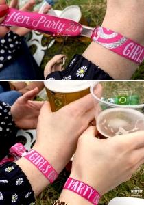 festival hen party wristbands