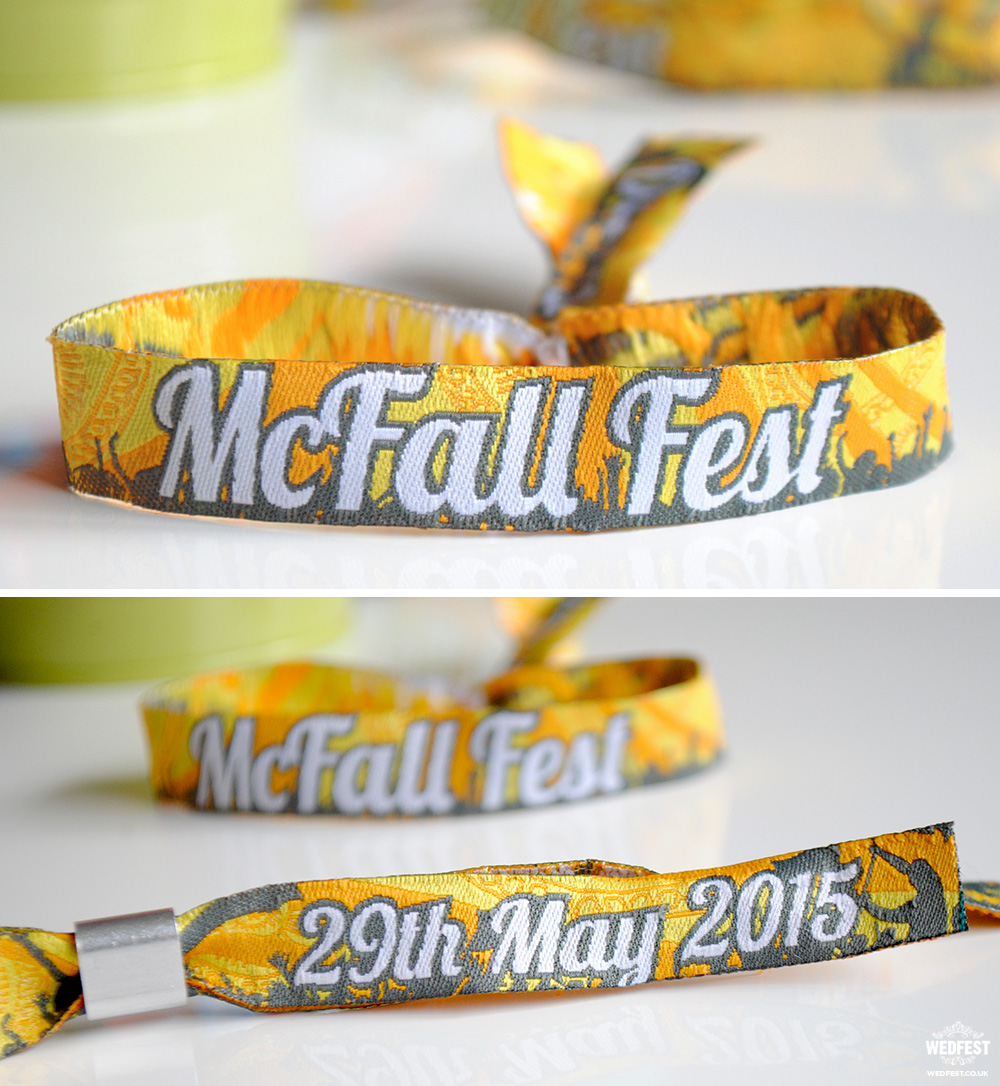 festival wedding wristband