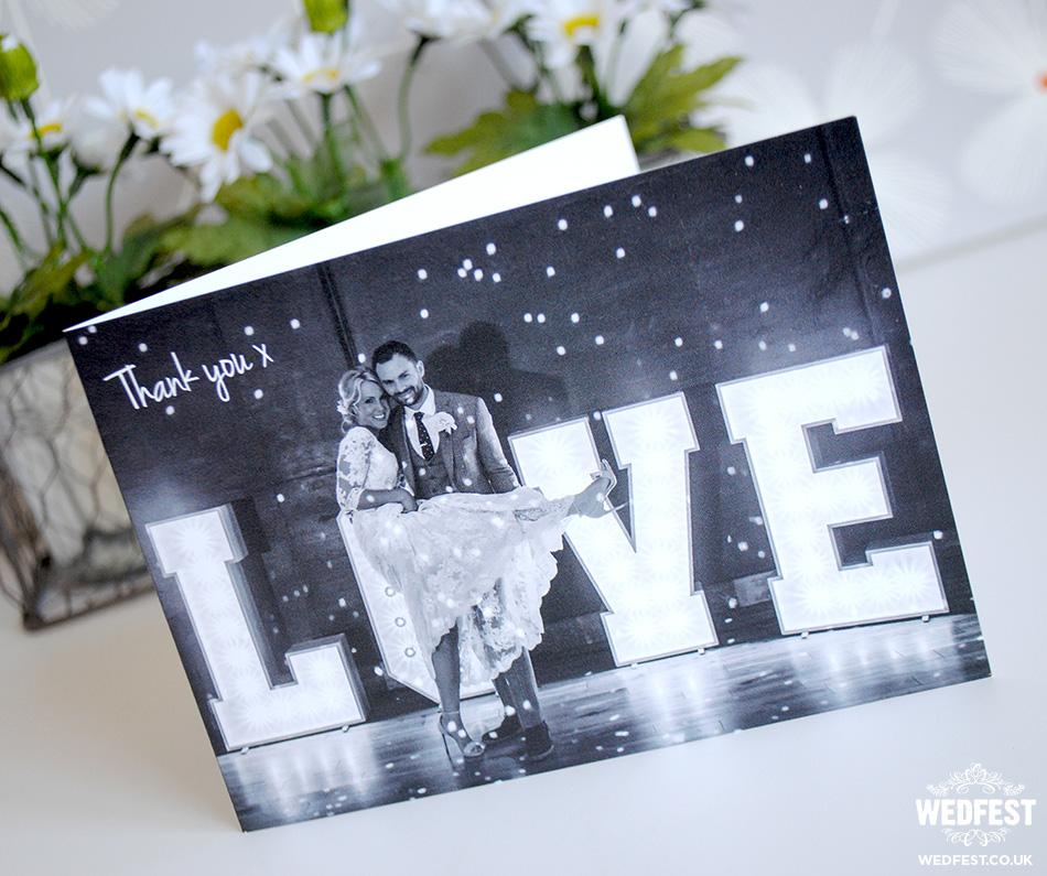 folded wedding thank you cards