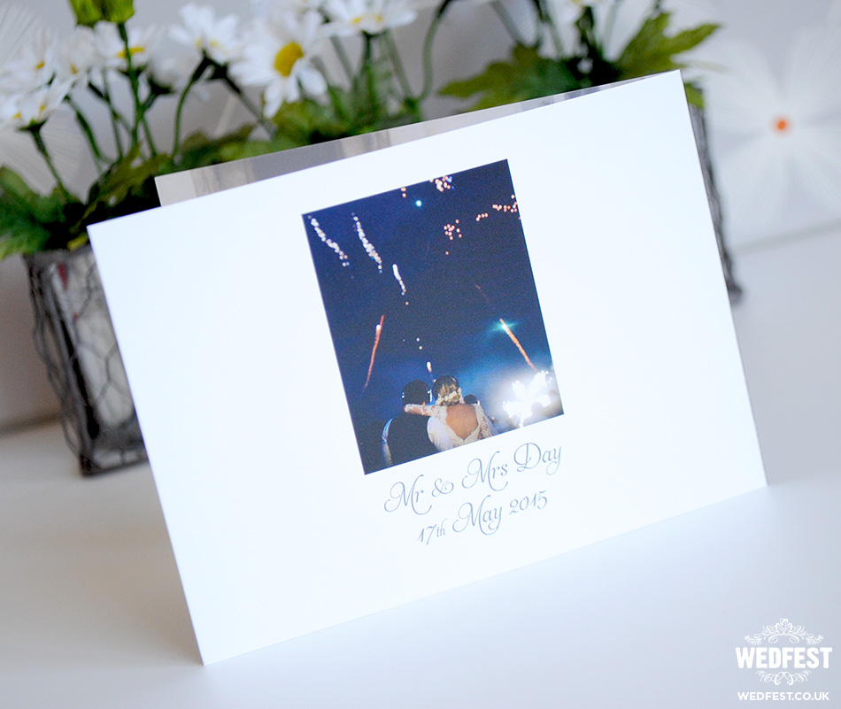 landscape folded wedding thank you card