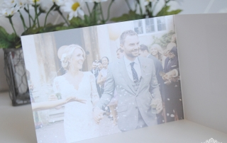 personalised photo wedding thank you card