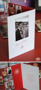 portrait wedding thank you cards