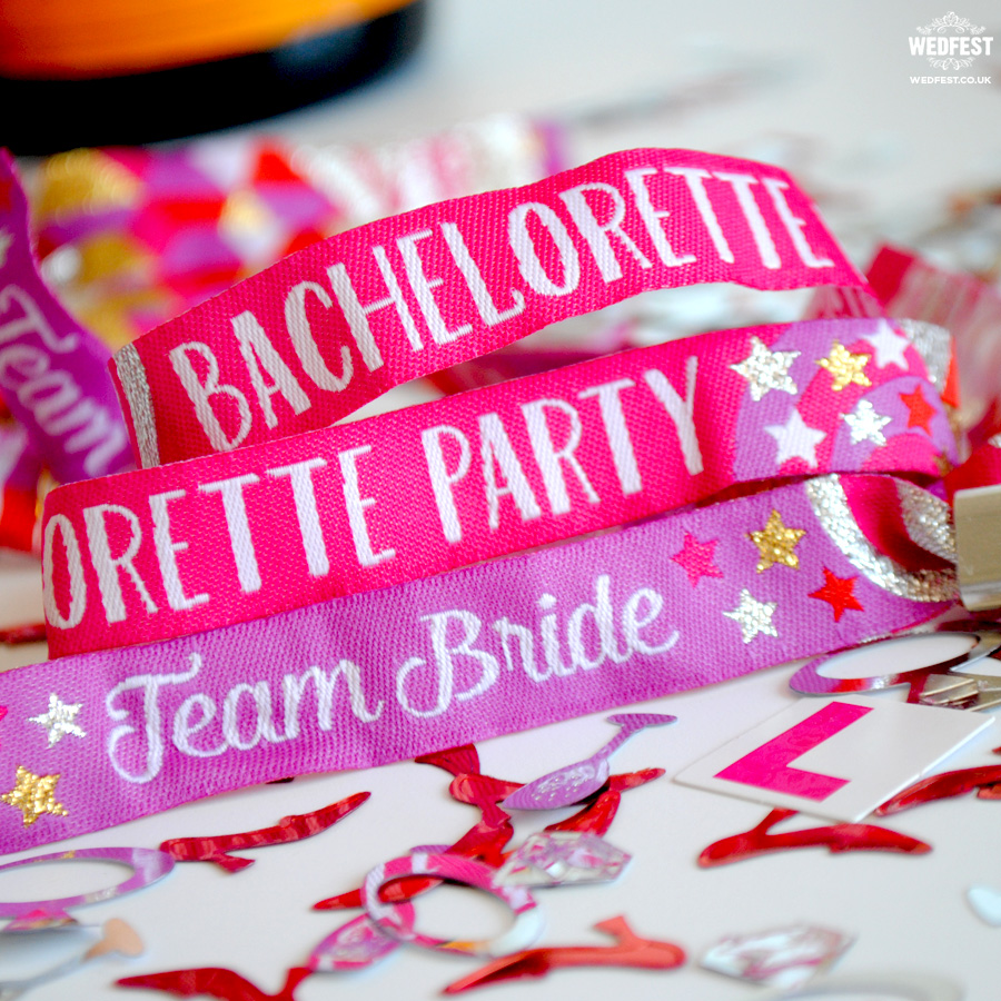 team bride bachelorette party wristbands