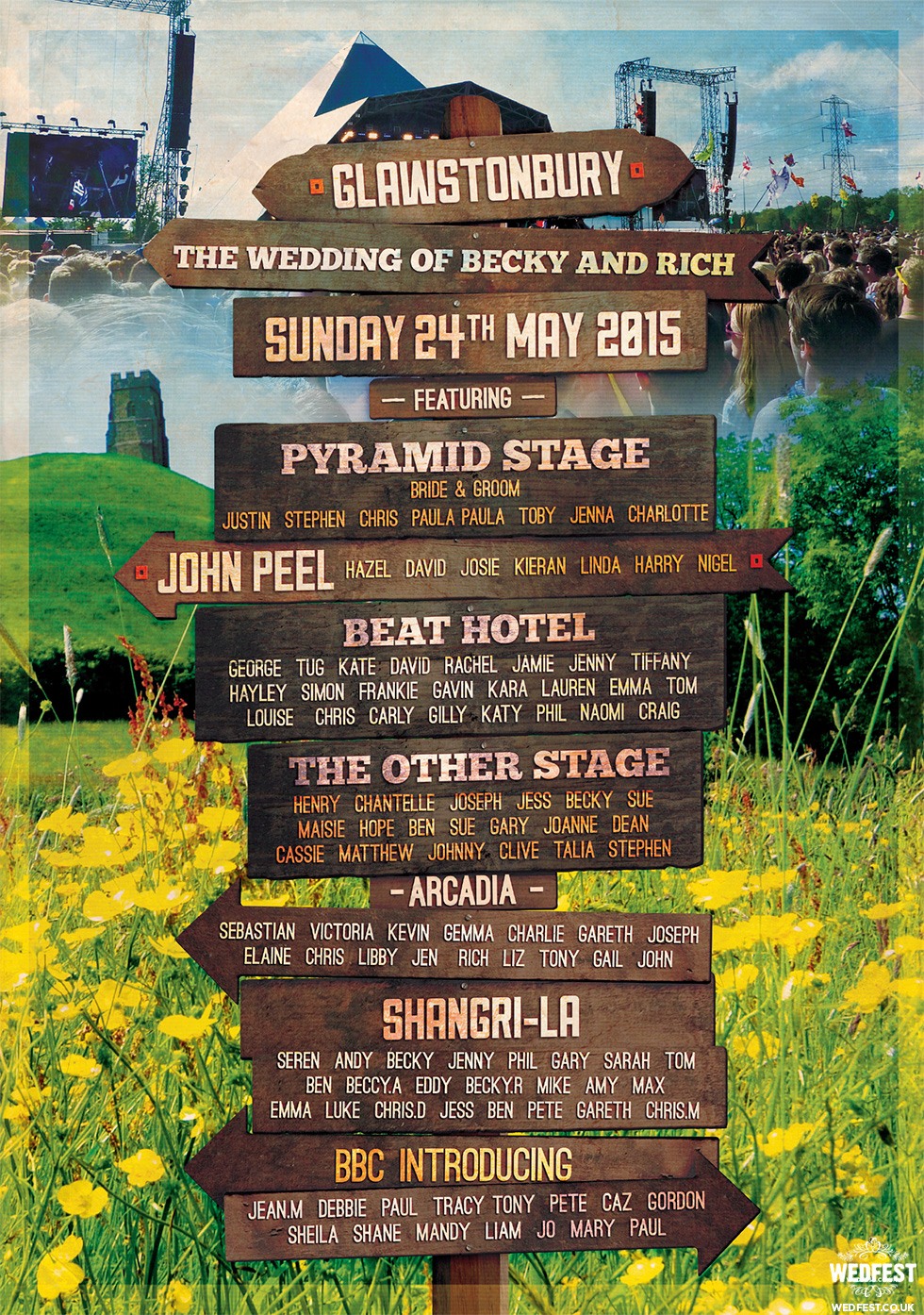 wedding festival sign table plan