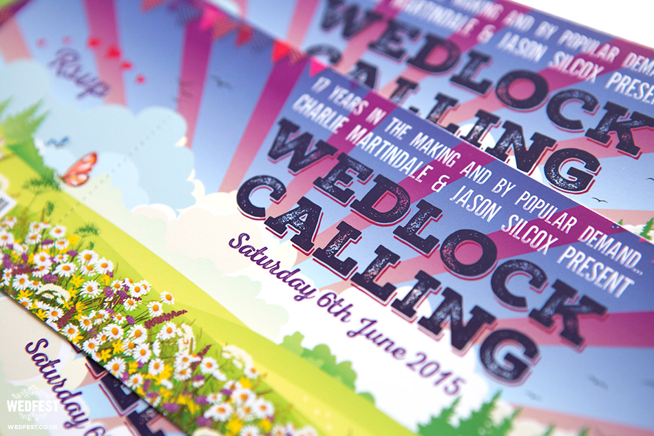 wedlock calling wedding invite