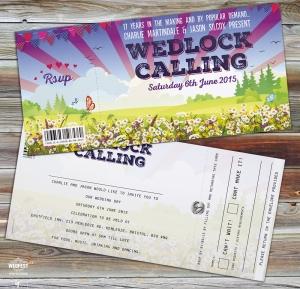 wedlock wedding festival invites