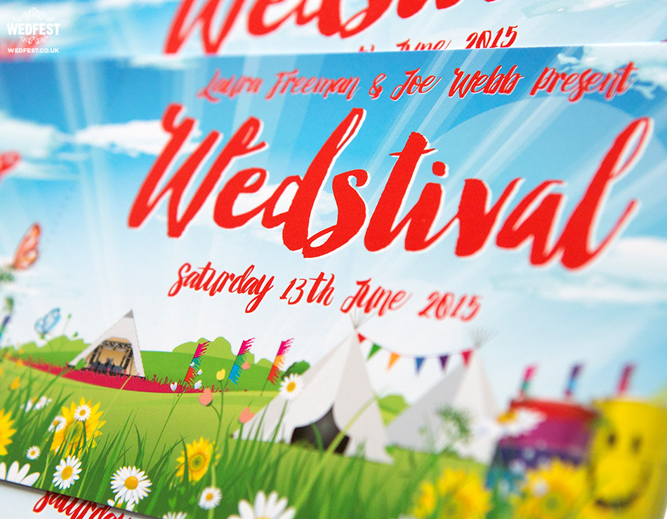 wedstival festival wedding invite