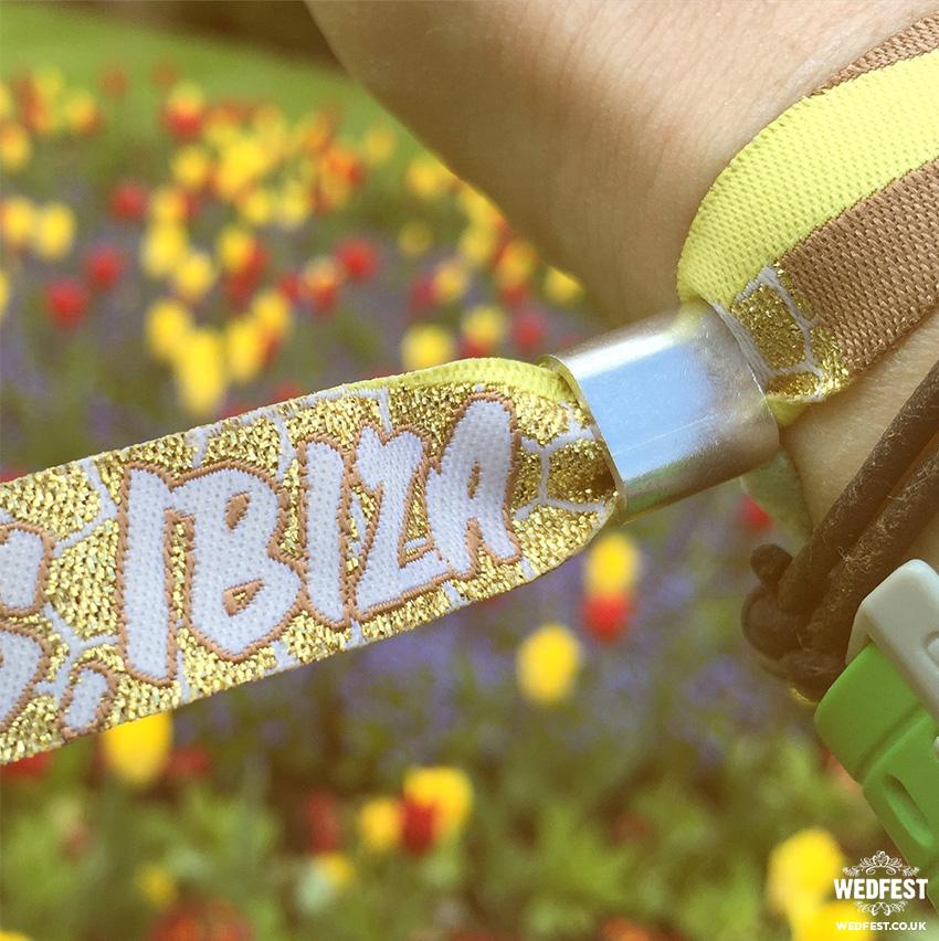 ibiza wedding wristband