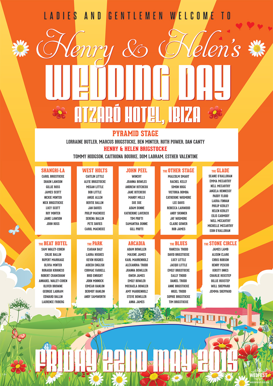 ibiza wedding seating plan