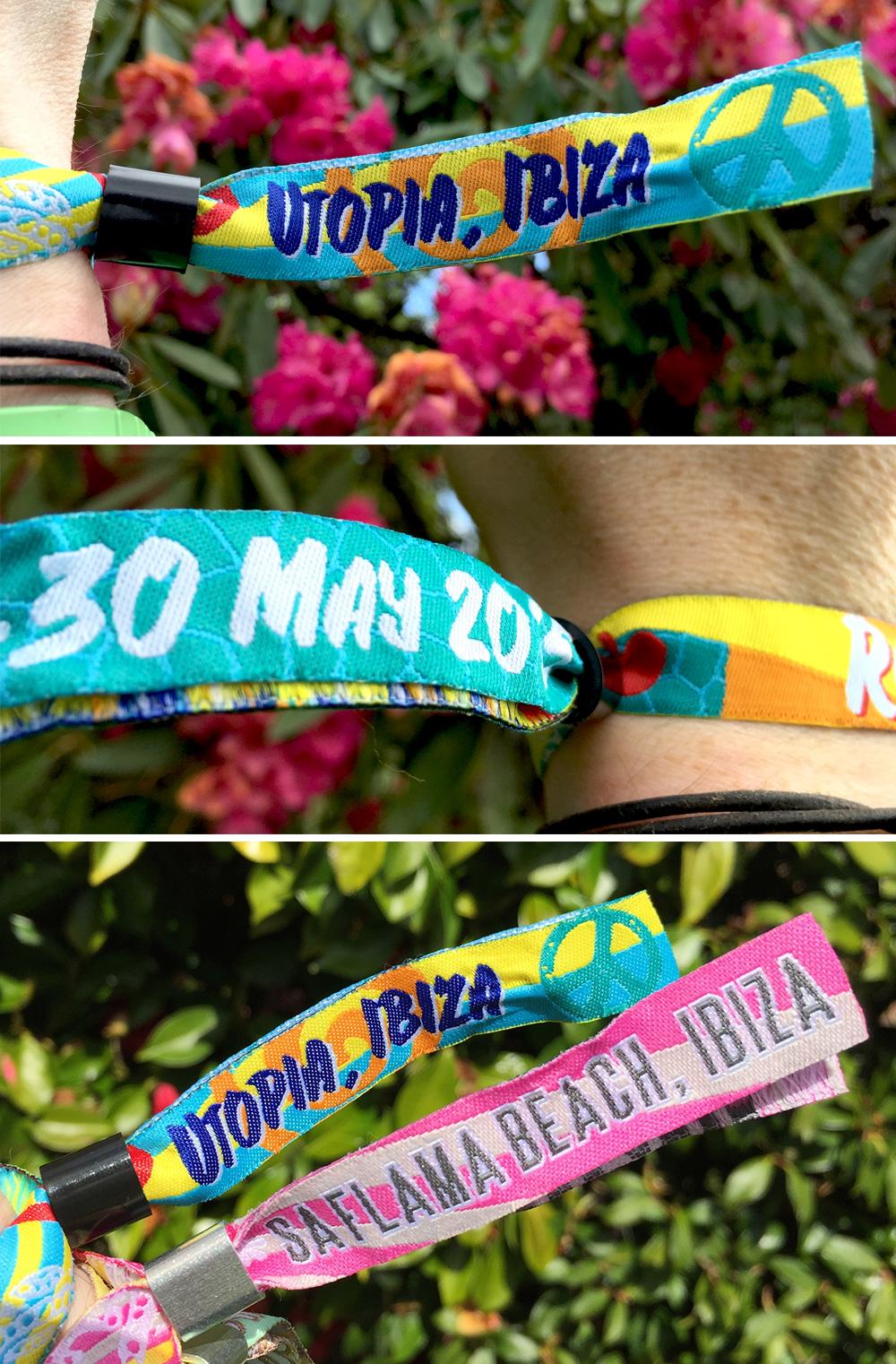 Ibiza wedfest wristbands
