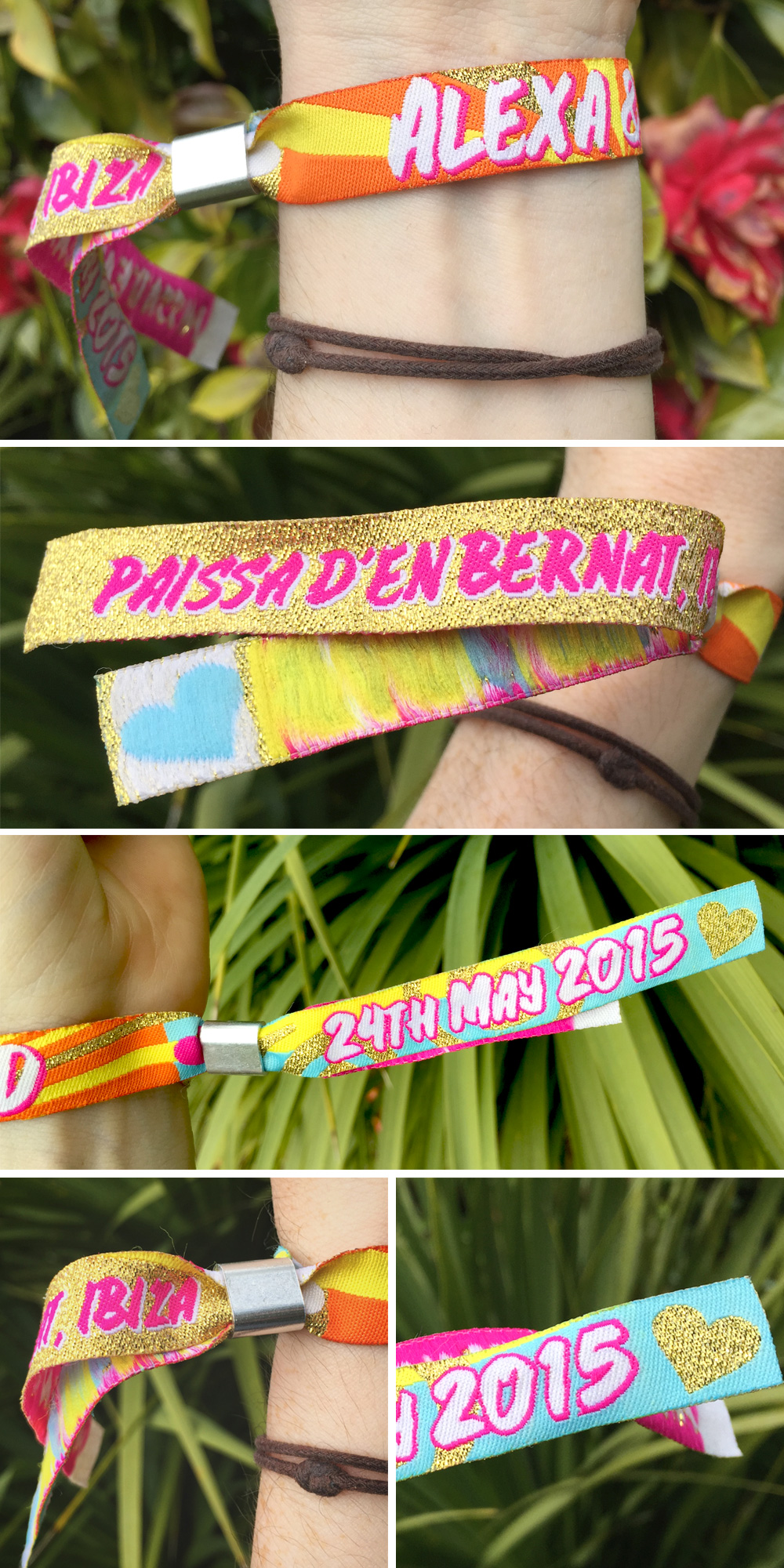 personalised Ibiza wristband