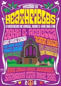 psychedelic poster wedding invitation