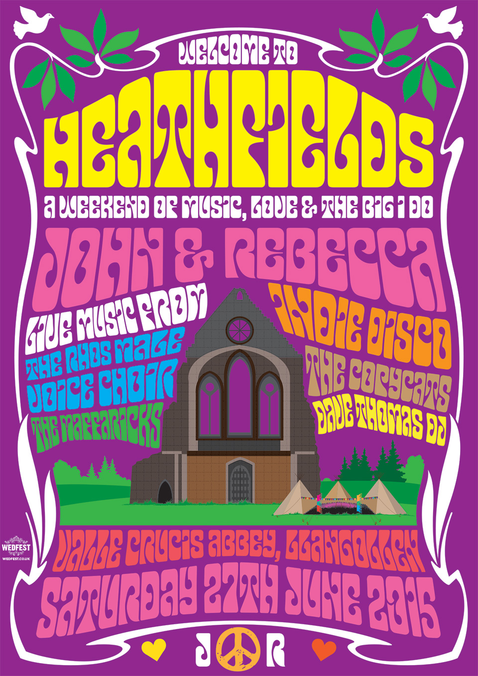 psychedelic poster wedding invitation
