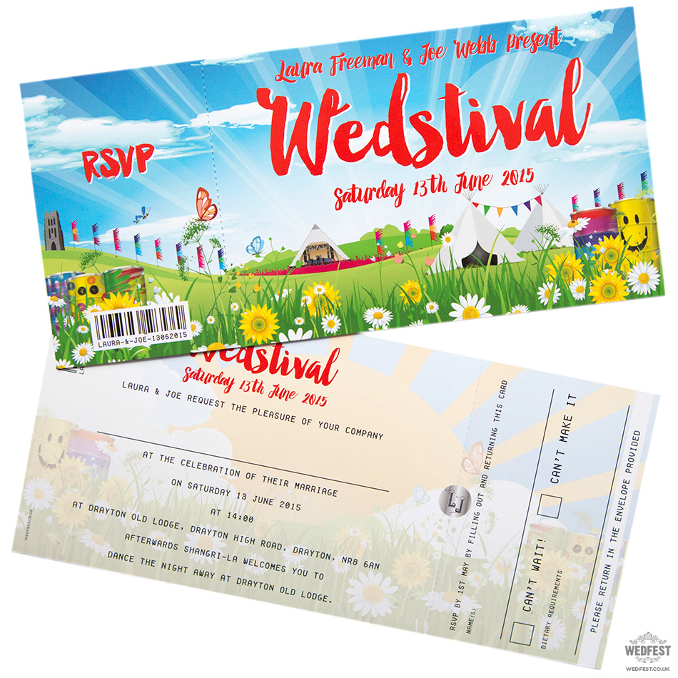 wedstival wedding festival invite tickets
