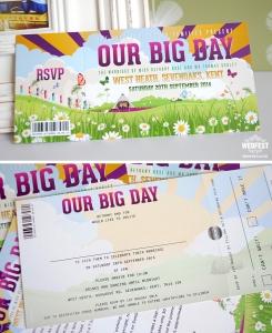Our Big Day Festival Wedding Invites