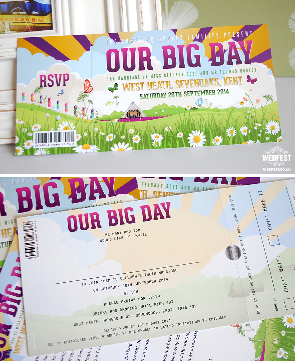 Our Big Day Festival Wedding Invites