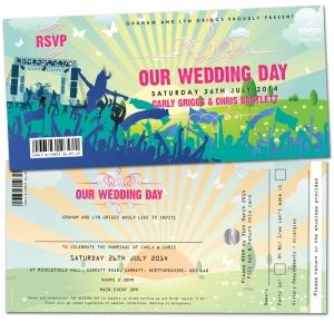 festival wedding invites