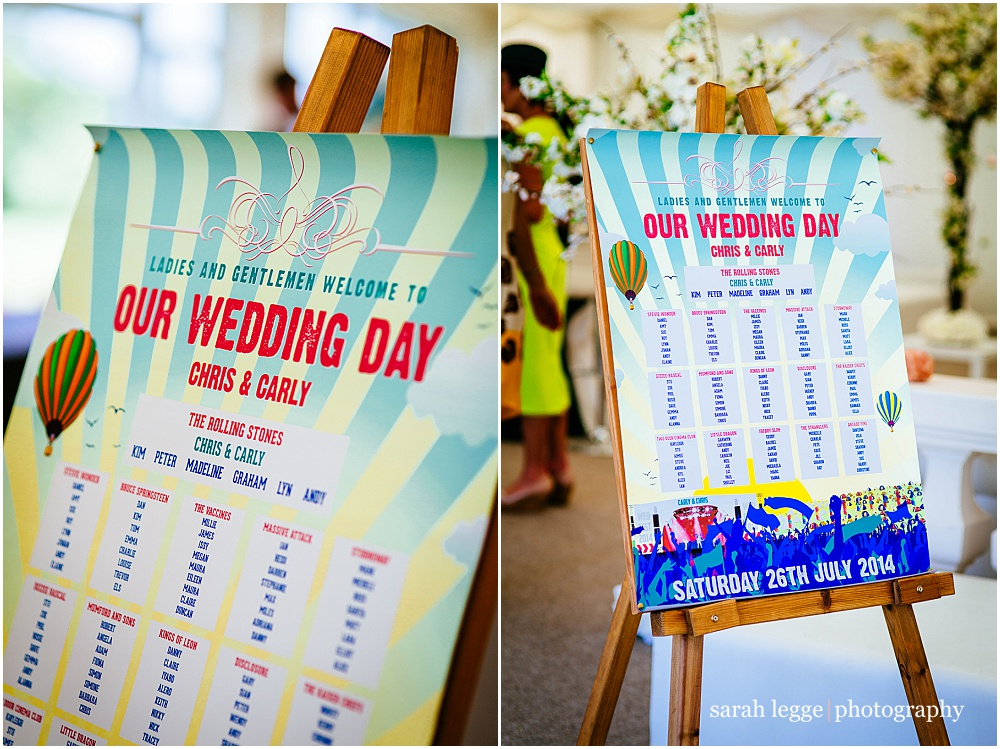 festival wedding table plan