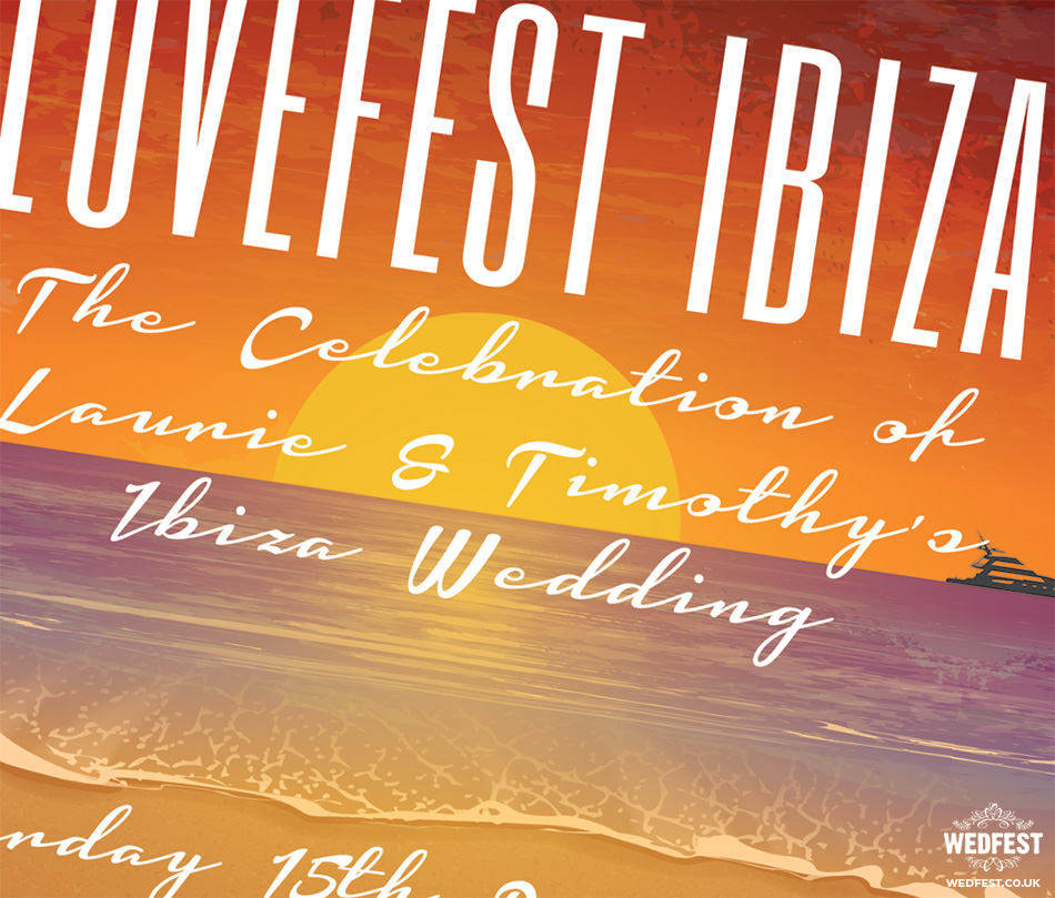Ibiza wedding invite