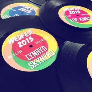 musical vinyl record wedding table name