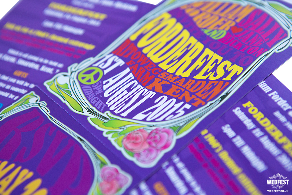 Psychedelic Wedding Invites