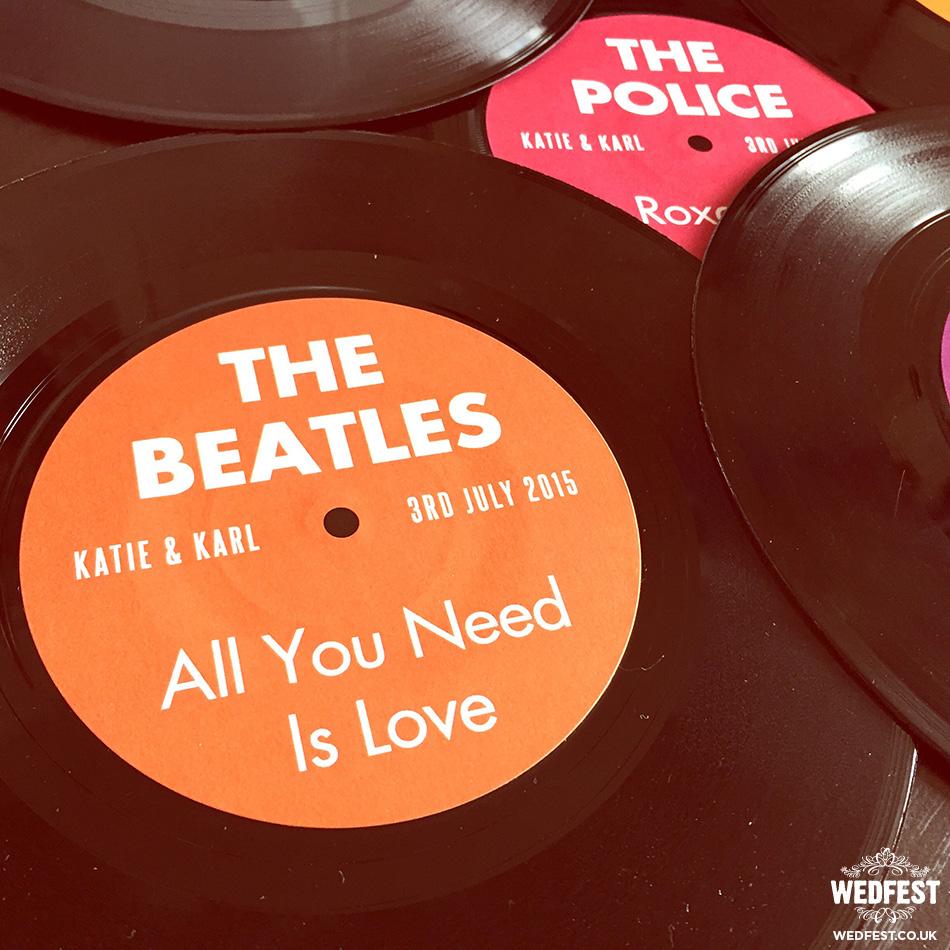 The Beatles vinyl record Wedding Table Name