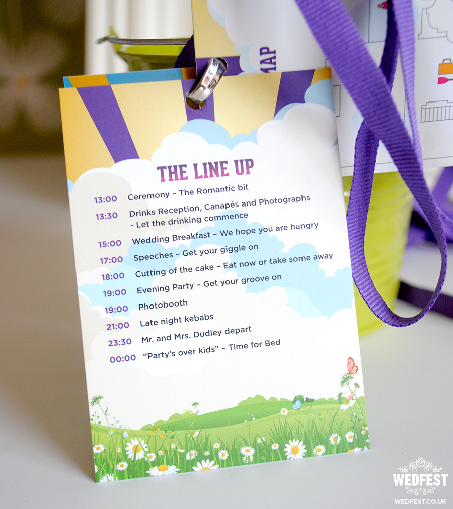 wedding festival program