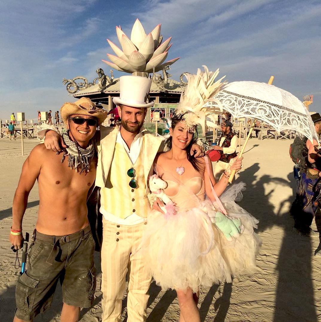 Burning Man wedding couple
