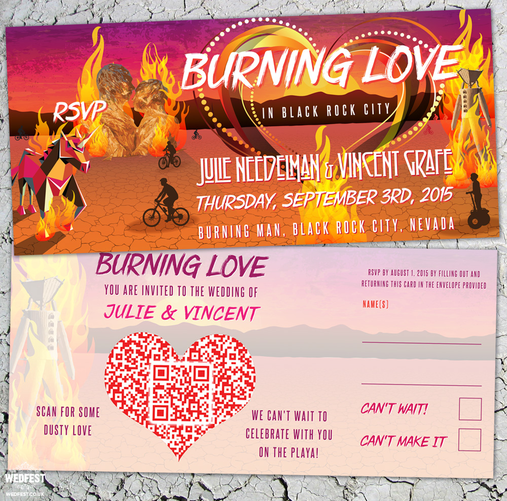 burning man wedding invites