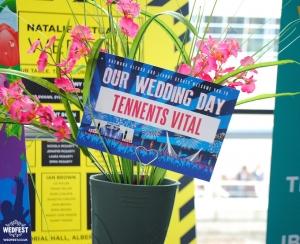 festival wedding table name card tennents vital