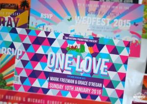 one love geometric wedding invitation