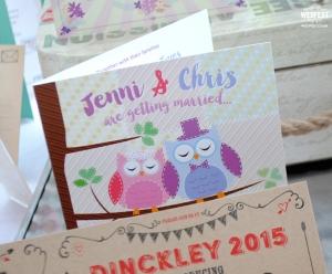 owls wedding invites